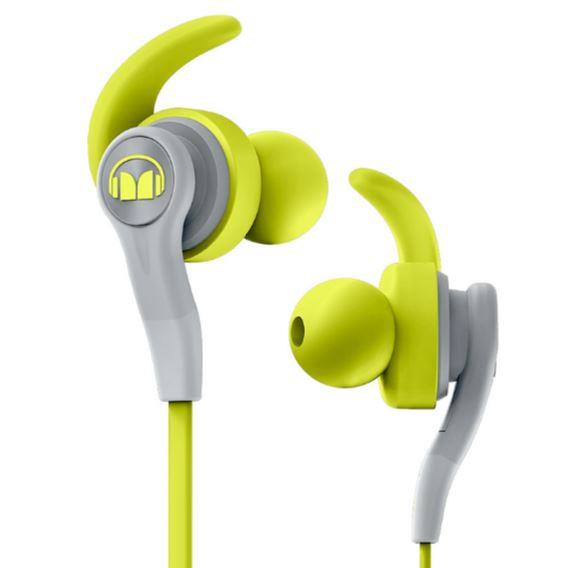 AURICULAR MONSTER ISPORT COMPETE VERDE Y GRIS