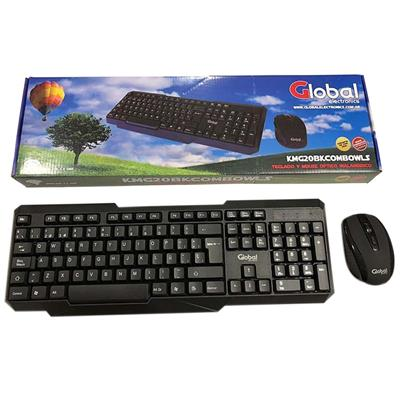 TECLADO Y MOUSE INALMBRICO GLOBAL KMG20BK 2.4GHZ