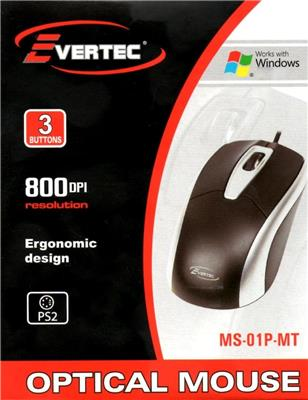 MOUSE OPTICO PS2 800DPI EVERTEC