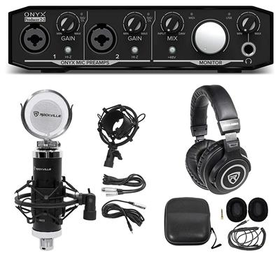 KIT Mackie Onyx productor 2.2 USB placa AUDIO+ mic CONDENSER+ auriculareS PRO
