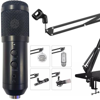 KIT MICROFONO CONDENSER MUT USB ECHO F200TL ANTI POP SOPORTE SHOCK MOUNT