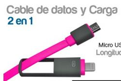 CABLE FLAT 2 EN 1 MICRO USB LIGHTING