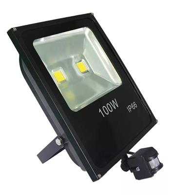 REFLECTOR LED 100W ERIC IP66 LUZ BLANCA DETECTOR MOVIMIENTO