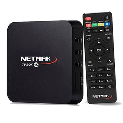 CONVERSOR ANDROID SMART TV NETMAK NM-TVBOX1 4K ULTRA HD 8G