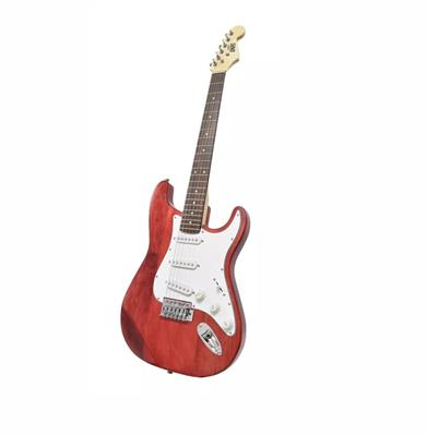 GUITARRA ELECTRICA ONAS STRATOCASTER RED WOOD