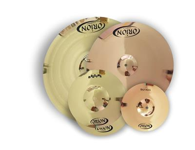 SET DE 4 PLATILLOS DE BATERIA ORION CRASH RIDE SPLASH HI-HAT