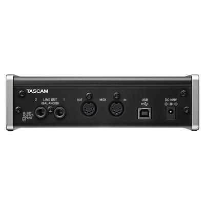 PLACA DE SONIDO TASCAM US-2X2 2 IN 2 OUT MIDI