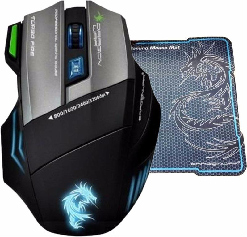 MOUSE GAMER DRAGON WAR G9 THOR USB + PAD MOUSE