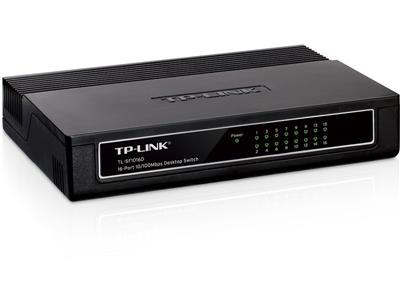 SWITCH 16 PUERTOS TP-LINK 10/100 SF1016D