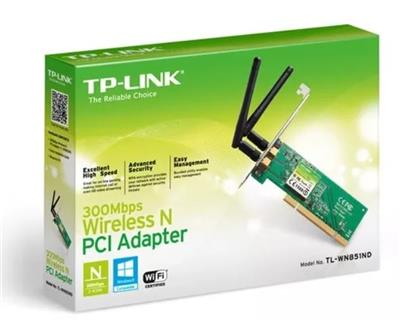 PLACA DE RED WIFI TP-LINK PCI 300MBPS 2 ANT TL-WN851ND