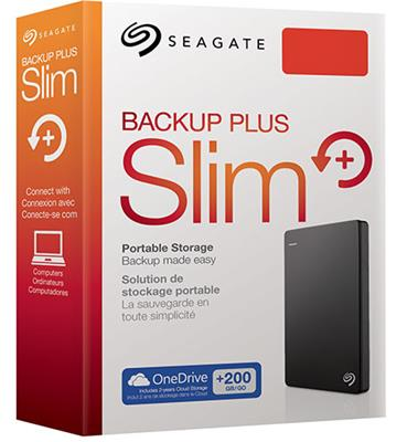 DISCO RIGIDO EXTERNO SLIM 2TB BACKUP PLUS SEAGATE