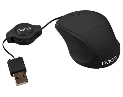 MOUSE MINI RETRACTIL NOGANETL NGM-418 NEGRO