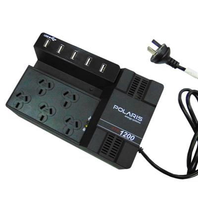 ESTABILIZADOR DE TENSION AVR 1200 POLARIS 5 ENTRADAS + 5 USB