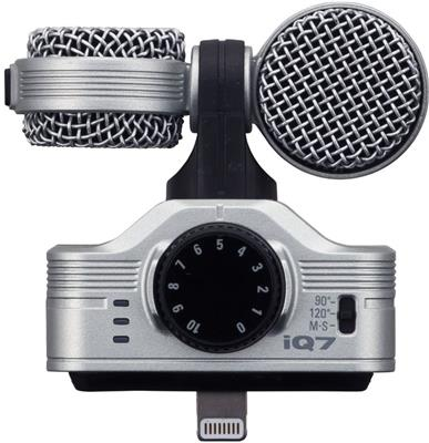 MICROFONO ESTEREO PROFESIONAL ZOOM IQ7 iOS iPHONE iPAD iPOD
