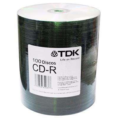 CD VIRGEN TDK PRINTABLE BULK X 100 UNIDADES