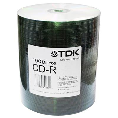 Cd-r Virgen TDK x 100 Unidades Estampado 80 Min 52x 700mb