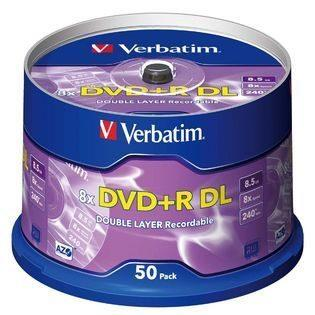 DVD DUAL LAYER VERBATIM 8X X50+