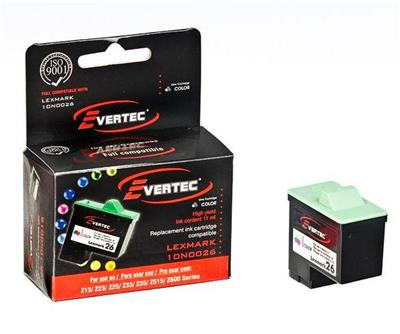 CARTUCHO EVERTEC LEXMARK 26 COLOR