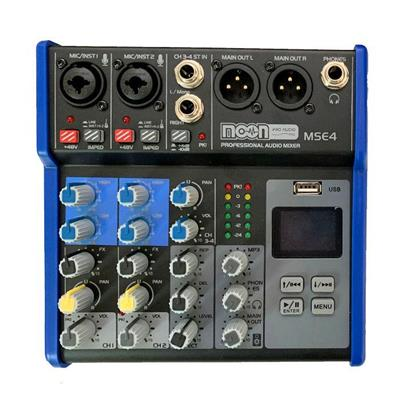 Consola Mixer 4 Canales Phantom Bluetooth Display