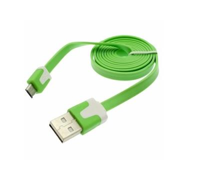 CABLE USB A MICRO USB PLANO 1.8 NETMAK NM-C68G VERDE