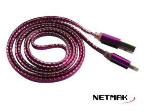 CABLE USB A IPHONE 8PIN 1M ROSA