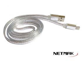 CABLE USB A IPHONE 8PIN 1M GRIS