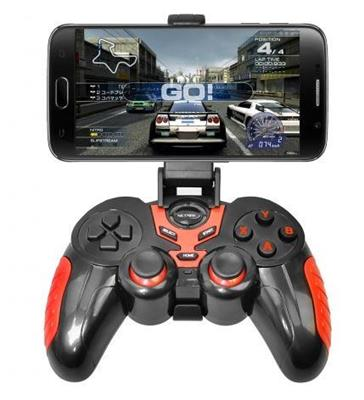 JOYSTICK BLUETOOTH NETMAK PS3 CELULAR PC NM-J7024 + SOPORTE