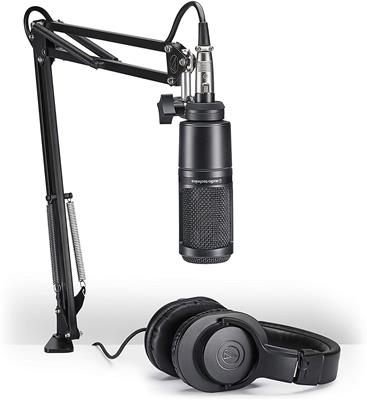 KIT AUDIO TECHNICA AT2020 + M20X + BRAZO + CABLE AT2020PK