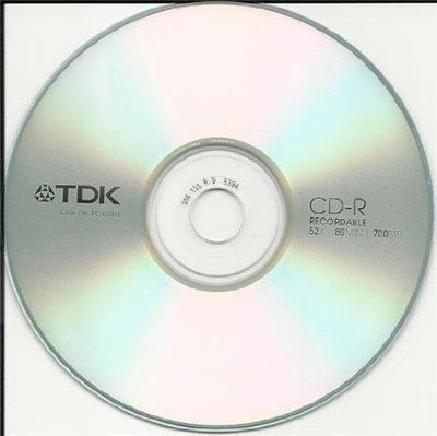CD VIRGEN TDK 80MIN ESTAMPADO