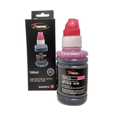 TINTA EVERTEC HP GT52 MAGENTA 100ML