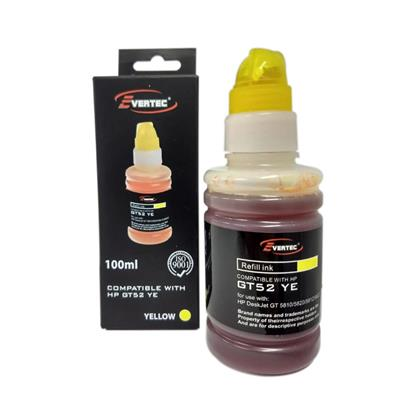 TINTA EVERTEC HP GT52 AMARILLA 100ML